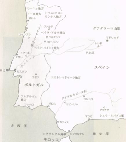 地図 ポルトガル