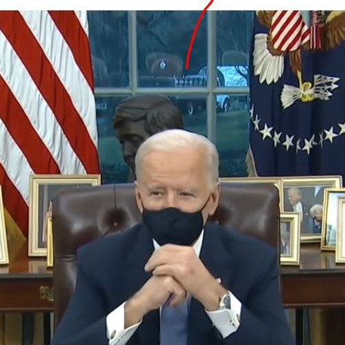 Fake Biden Oval Office